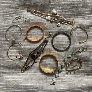 ASSORTED sterling silver and gold plated bracelets
